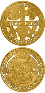 100 euro coin Mojmir I, Ruler of Great Moravia | Slovakia 2019
