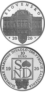 10 euro coin 100th anniversary of the establishment of the Slovak National Theatre | Slovakia 2020
