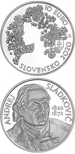 10 euro coin 200th anniversary of the birth of Andrej Sládkovič | Slovakia 2020