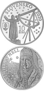 10 euro coin 200th anniversary of the birth of Maximilian Hell | Slovakia 2020