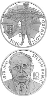 10 euro coin 150th anniversary of the birth of Štefan Banič | Slovakia 2020