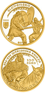 100 euro coin Svatopluk II, Ruler of the Nitrian Principality | Slovakia 2020