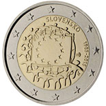 2 euro coin The 30th anniversary of the EU flag | Slovakia 2015