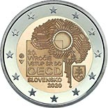 2 euro coin Entry of the Slovak Republic to the OECD | Slovakia 2020