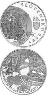 20 euro coin 100th Anniversary of the Discovery of Demänovská Cave of Liberty | Slovakia 2021