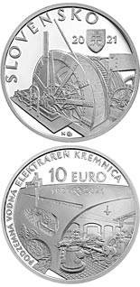10 euro coin 100th anniversary of the underground hydroelectric power plant in Kremnica | Slovakia 2021