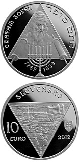 10 euro coin Chatam Sofer - the 250th anniversary of the birth  | Slovakia 2012
