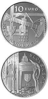 10 euro coin Jozef Karol Hell - the 300th anniversary of the birth  | Slovakia 2013