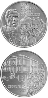 10 euro coin Matica slovenská Cultural Association  - the 150th anniversary of the founding  | Slovakia 2013