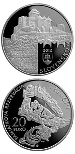 20 euro Conservation Area of the Trenčín Town  - 2012 - Series: Silver 20 euro coins - Slovakia