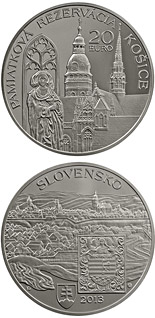 20 euro Conservation Area of the Košice Town Košice - the European Capital of Culture for 2013  - 2013 - Series: Silver 20 euro coins - Slovakia