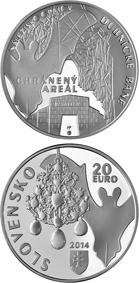 20 euro Protected Opalfield - Dubnícke Mines - 2014 - Series: Silver 20 euro coins - Slovakia