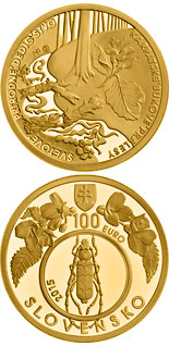 100 euro coin UNESCO World Heritage Primeval Beech Forests of the Carpathians | Slovakia 2015