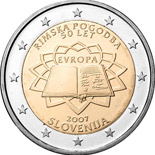 2 euro coin 50th Anniversary of the Treaty of Rome | Slovenia 2007