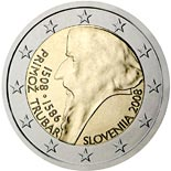 2 euro coin 500th anniversary of Primož Trubar's birth | Slovenia 2008