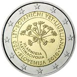 2 euro coin 200th anniversary of the Botanical Garden in Ljubljana  | Slovenia 2010