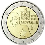 2 euro coin 100th anniversary of the birth of Franc Rozman | Slovenia 2011