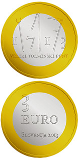 3 euro coin 300th anniversary of the great Tolmin Peasant Uprising | Slovenia 2013