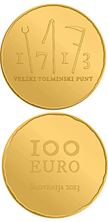 100 euro coin 300th anniversary of the great Tolmin Peasant Uprising | Slovenia 2013