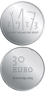30 euro coin 300th anniversary of the great Tolmin Peasant Uprising | Slovenia 2013