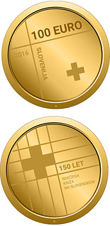 100 euro 150th anniversary of the Red Cross in Slovenia - 2016 - Series: Gold 100 euro coins - Slovenia