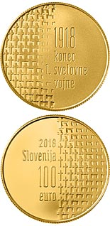 100 euro coin 100th Anniversary of the End of the First World War | Slovenia 2018