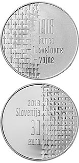 30 euro | Slovenia | 100th Anniversary of the End of the First World War | 2018