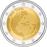 2 euro coin World Bee Day | Slovenia 2018