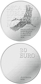 30 euro coin 100th anniversary of joining Prekmurje region with its motherland | Slovenia 2019