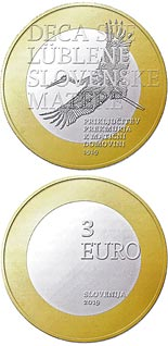 3 euro coin 100th anniversary of joining Prekmurje region with its motherland | Slovenia 2019