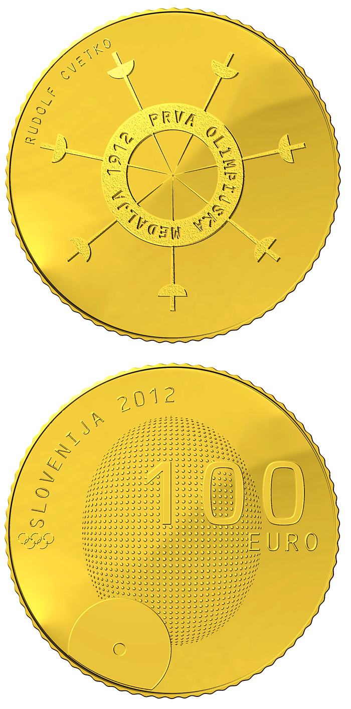 100 euro 100th anniversary of the first Slovene winner of the Olympic medal  - 2012 - Series: Gold 100 euro coins - Slovenia