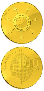 100 euro coin 100th anniversary of the first Slovene winner of the Olympic medal  | Slovenia 2012
