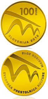 100 euro European Capital of Culture - Maribor 2012  - 2012 - Series: Gold 100 euro coins - Slovenia
