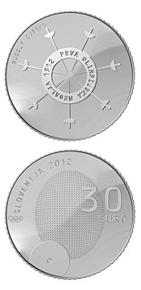 30 euro coin 100th anniversary of the first Slovene winner of the Olympic medal  | Slovenia 2012