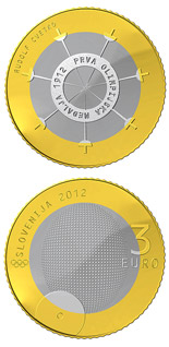 3 euro coin 100th anniversary of the first Slovene winner of the Olympic medal  | Slovenia 2012