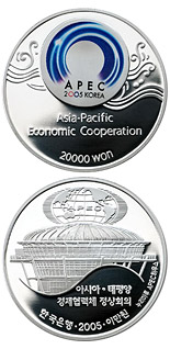 20000 won APEC 2005 Korea - 2005 - Series: Silver won coins - South Korea