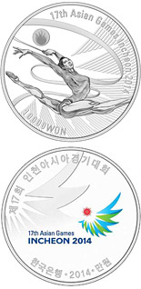 10000 won coin 17th Asian Games Incheon 2014: Rhythmic gymnastics | South Korea 2014