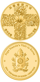 10000 won coin The Pope's Visit to Korea | South Korea 2014