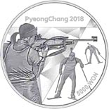 5000 won coin The PyeongChang 2018 Olympic Winter Games – Biathlon | South Korea 2016