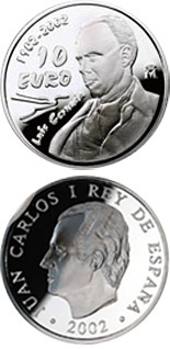 10 euro Centenary of the birth of the poet Luis Cernuda - 2002 - Series: Silver 10 euro coins - Spain