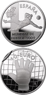 10 euro Football World Cup 2002 Goal keeper  - 2002 - Series: Silver 10 euro coins - Spain
