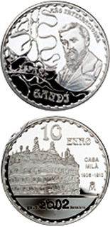 10 euro International Gaudí Year 2002 Casa Milà - 2002 - Series: Silver 10 euro coins - Spain