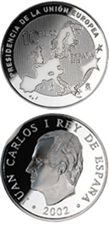 10 euro Spanish Presidency of the European Union - 2002 - Series: Silver 10 euro coins - Spain