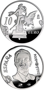 10 euro coin Centenary of the birth of Salvador Dalí – Atomic Leda | Spain 2004