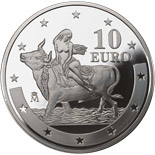 10 euro First anniversary of the euro - 2003 - Series: Silver 10 euro coins - Spain
