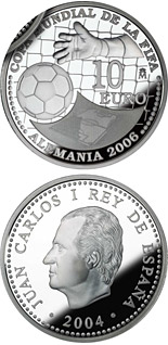 10 euro coin FIFA World Cup Germany 2006 – Issue 2004 | Spain 2004