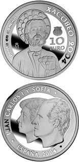 10 euro Holy Year Xacobeo 2004 - 2004 - Series: Silver 10 euro coins - Spain