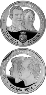 10 euro Felipe and Letizia - 2004 - Series: Silver 10 euro coins - Spain