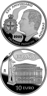 10 euro 25th Anniversary of the Prince Asturias Awards - 2005 - Series: Silver 10 euro coins - Spain