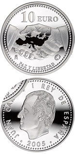 10 euro The Europa Program - Peace and Freedom - 2005 - Series: Silver 10 euro coins - Spain